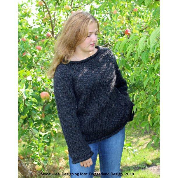 BEDELIA - Raglansweater i tyk islandsk uldgarn