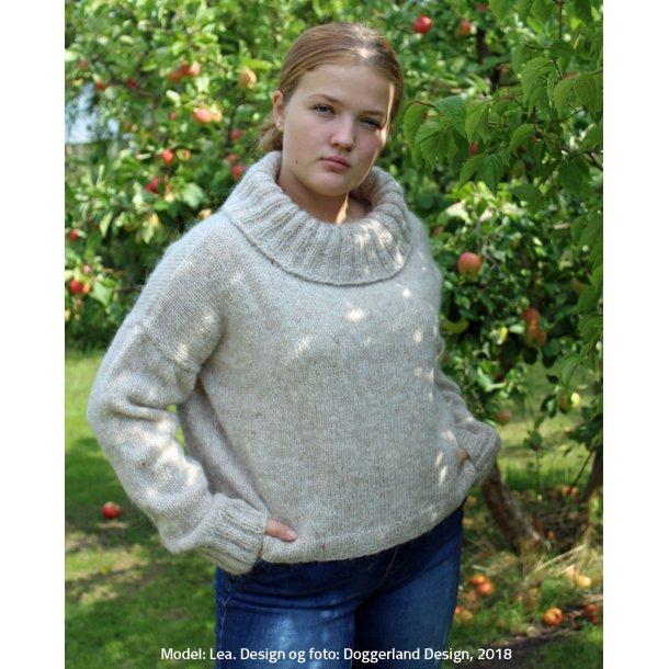 BLATHNAT - Sweater med stor krave i islandsk uld