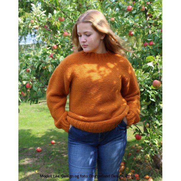 BRIGHID - Lang retrille-sweater i islandsk uldgarn