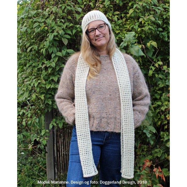 CLODAGH - Hue og halstørklæde i uld/alpaka (hæklekit)