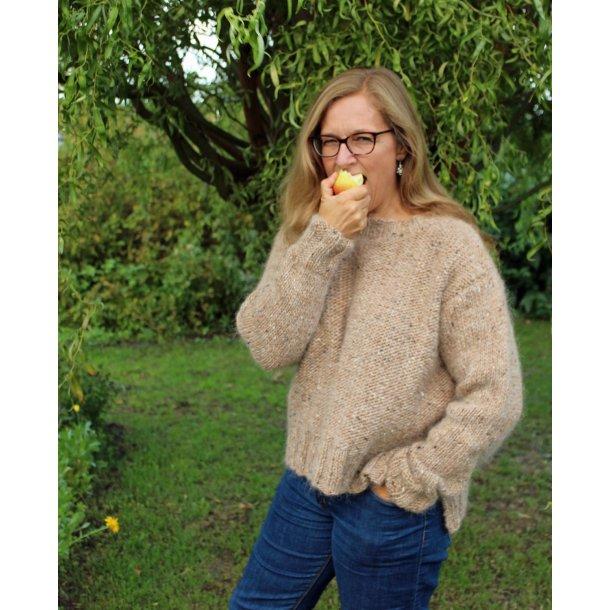 DELMA - sweater med struktur og detaljer, ung stil