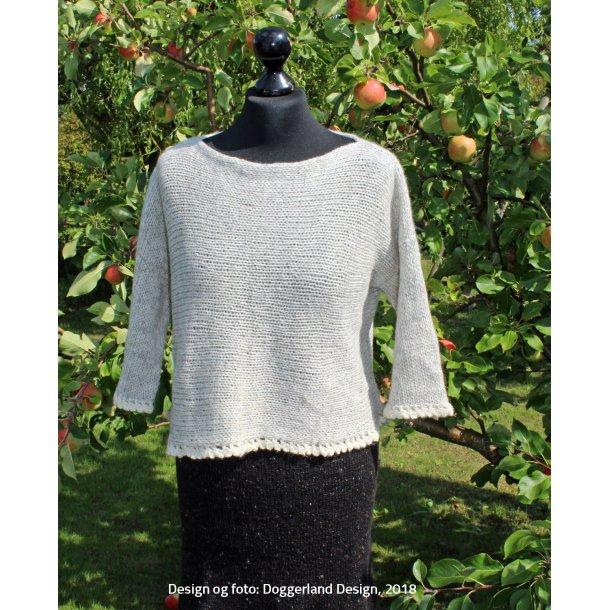 ETAIN - Let bluse i alpaka/uld, strikkes på tværs