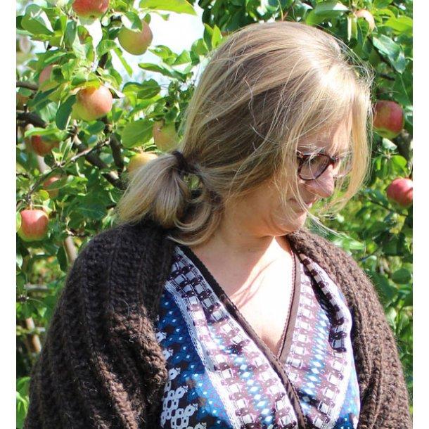 LEAN - Bolero i perlerib og tyk, blød islandsk uld