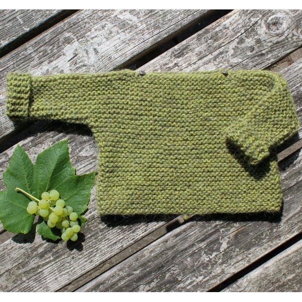 UNA - Uldbluse til baby, strikkes i islandsk uld