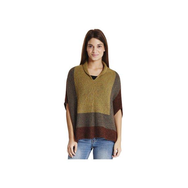 Opskrift: oversize T-bluse i retstrik. Design Jytte Slente